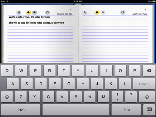 can you write essays on ipad 2